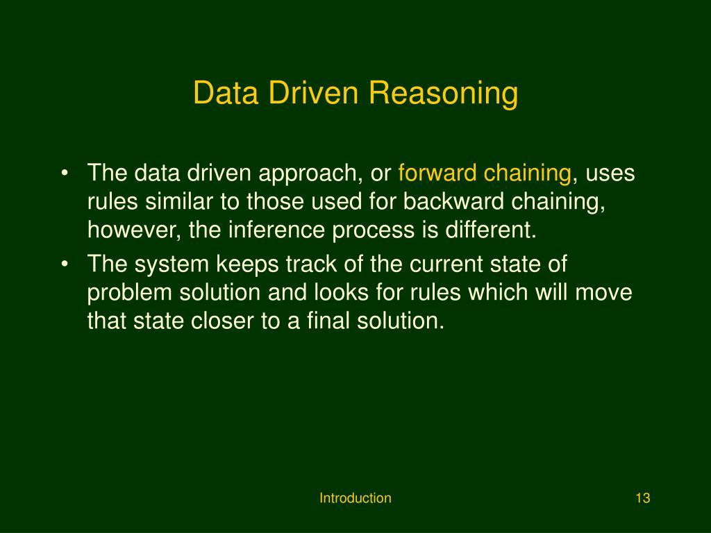 Data Driven Reasoning