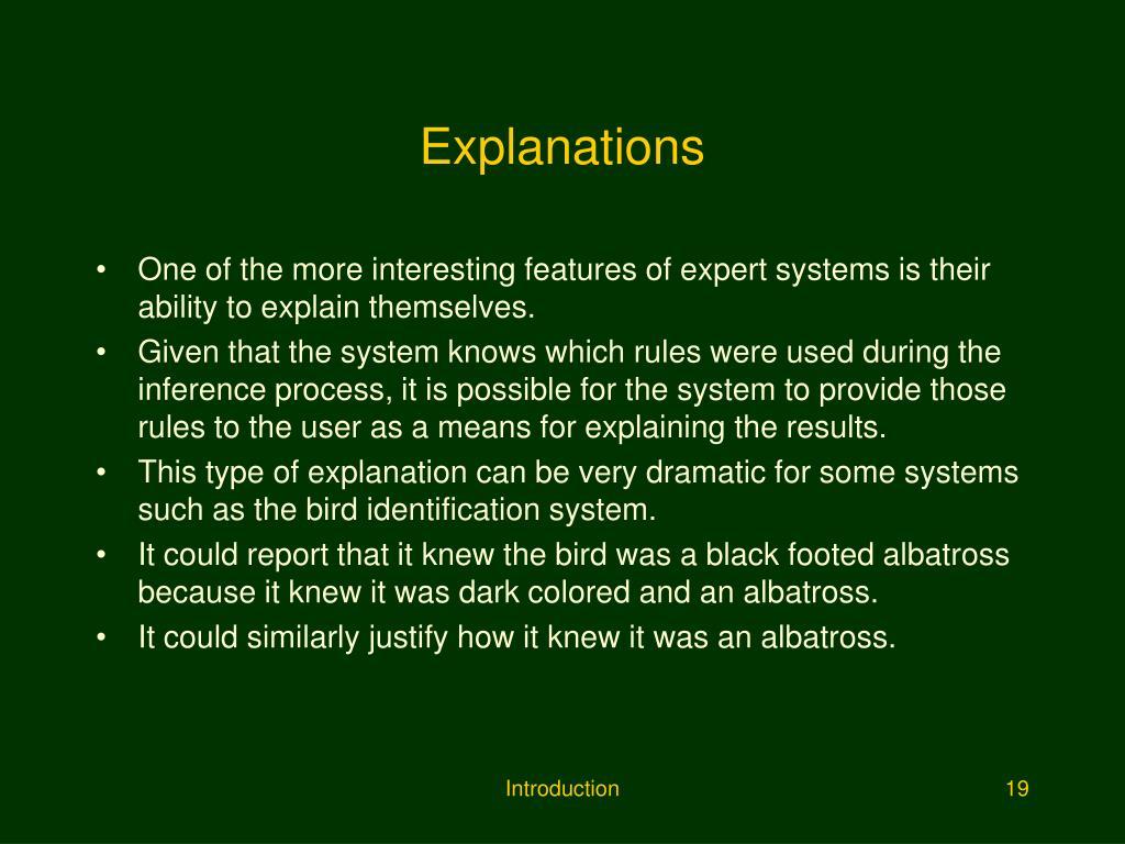 Explanations
