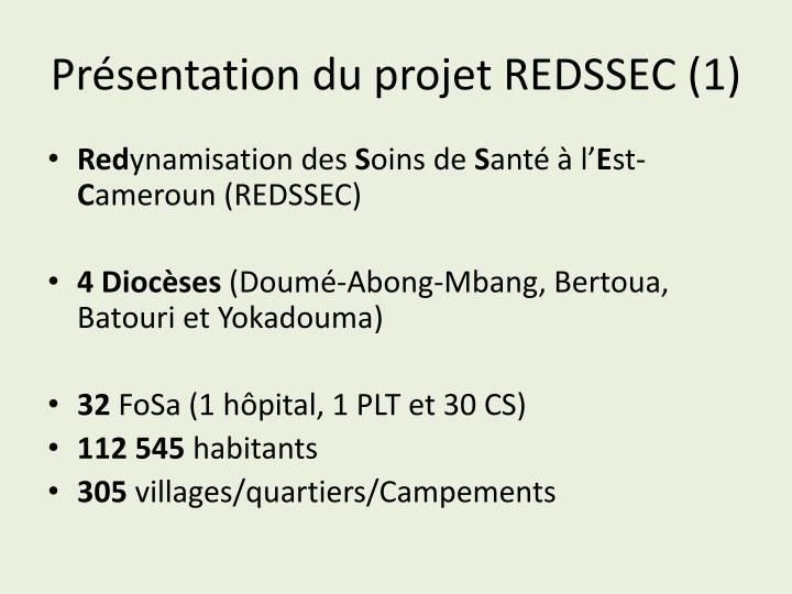 Présentation du projet REDSSEC (1)