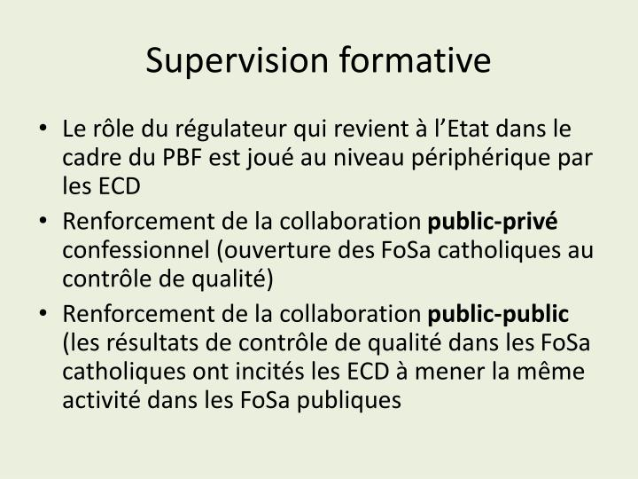 Supervision formative