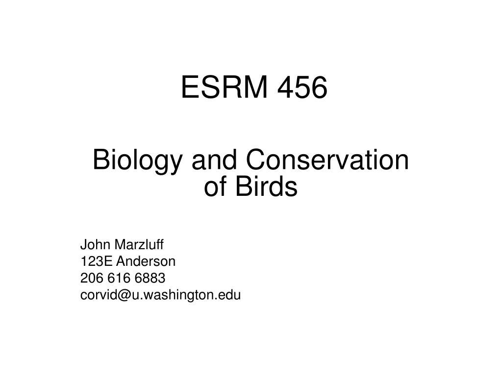 esrm 456