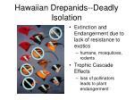 hawaiian drepanids deadly isolation