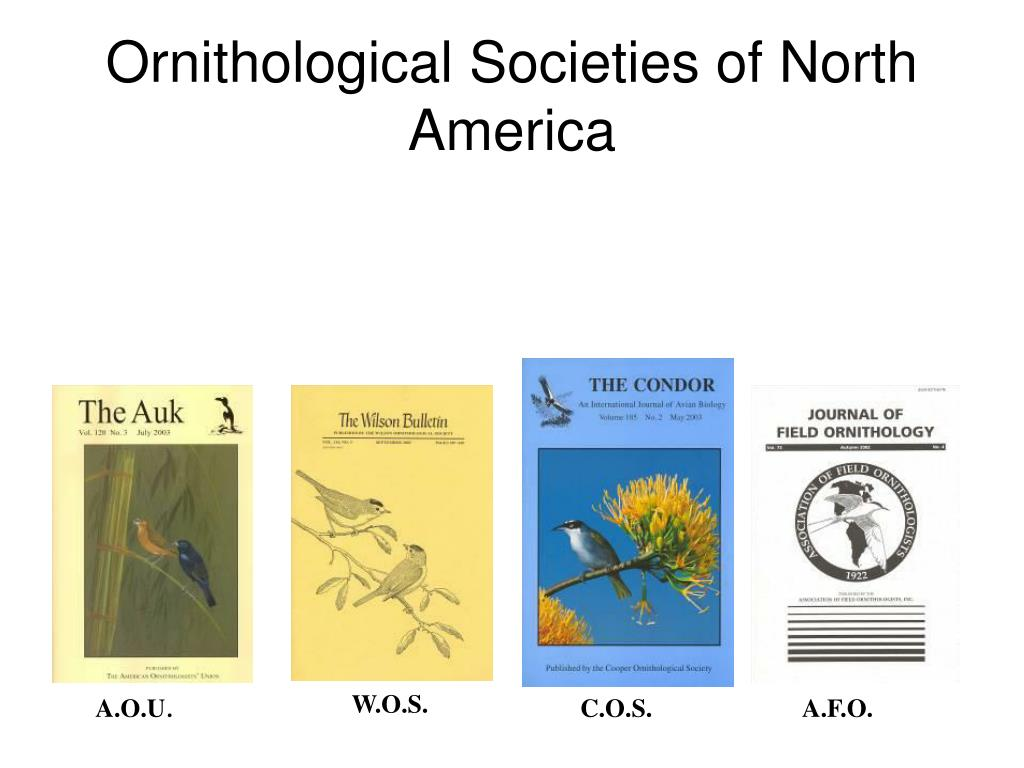 Ornithological Societies of North America