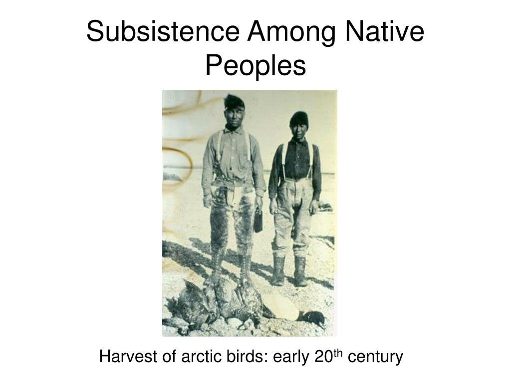 Subsistence Among Native Peoples