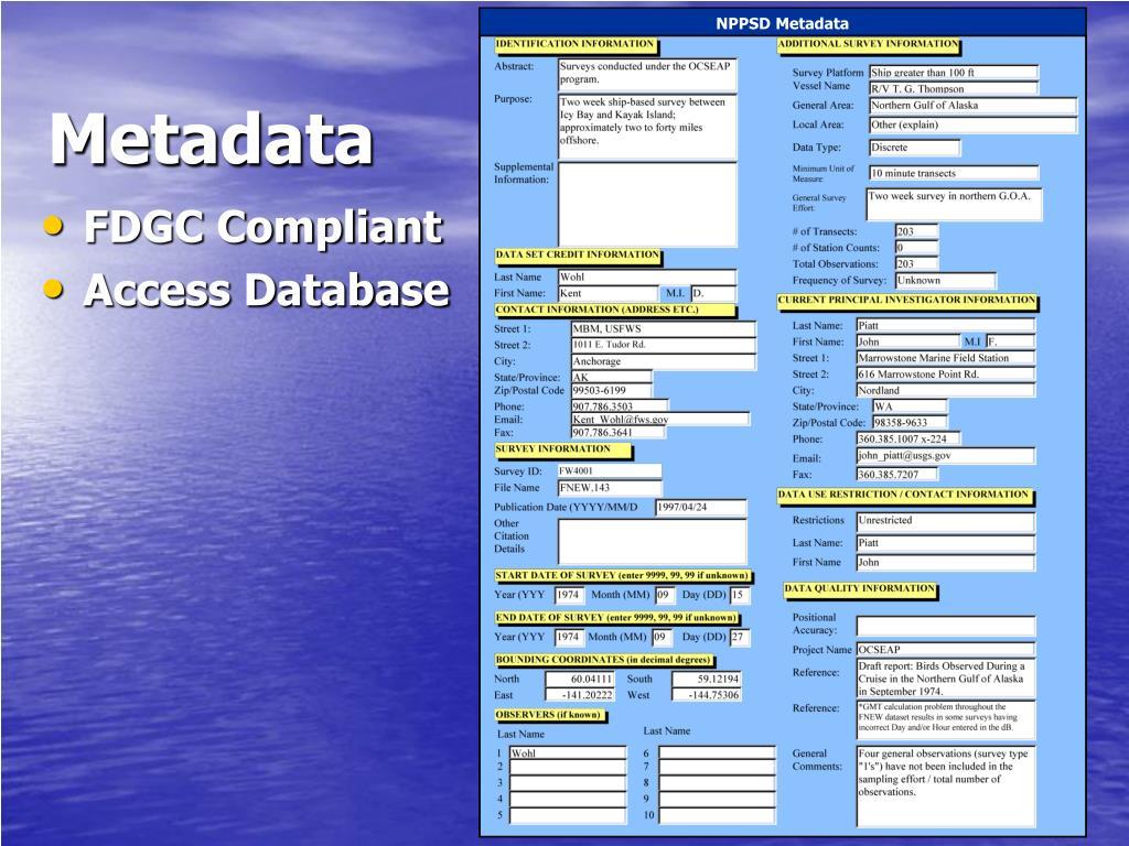 NPPSD Metadata