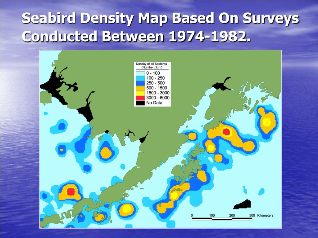 Seabird Density Map Based On Surveys Conducted Between 1974-1982.