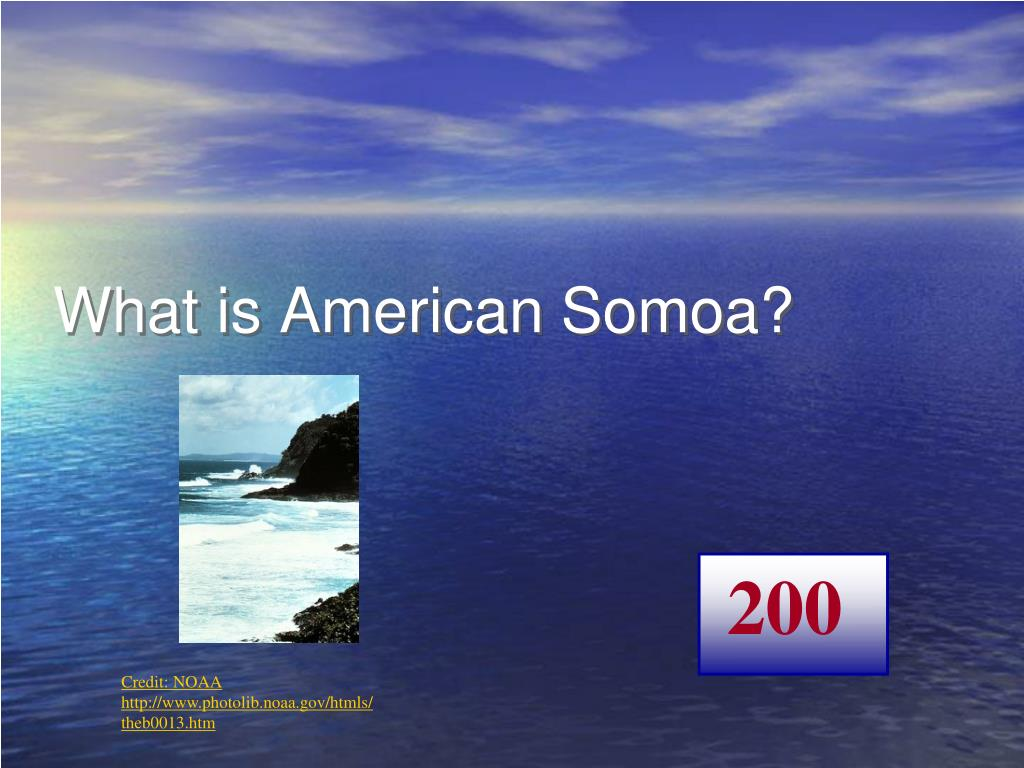 What is American Somoa?