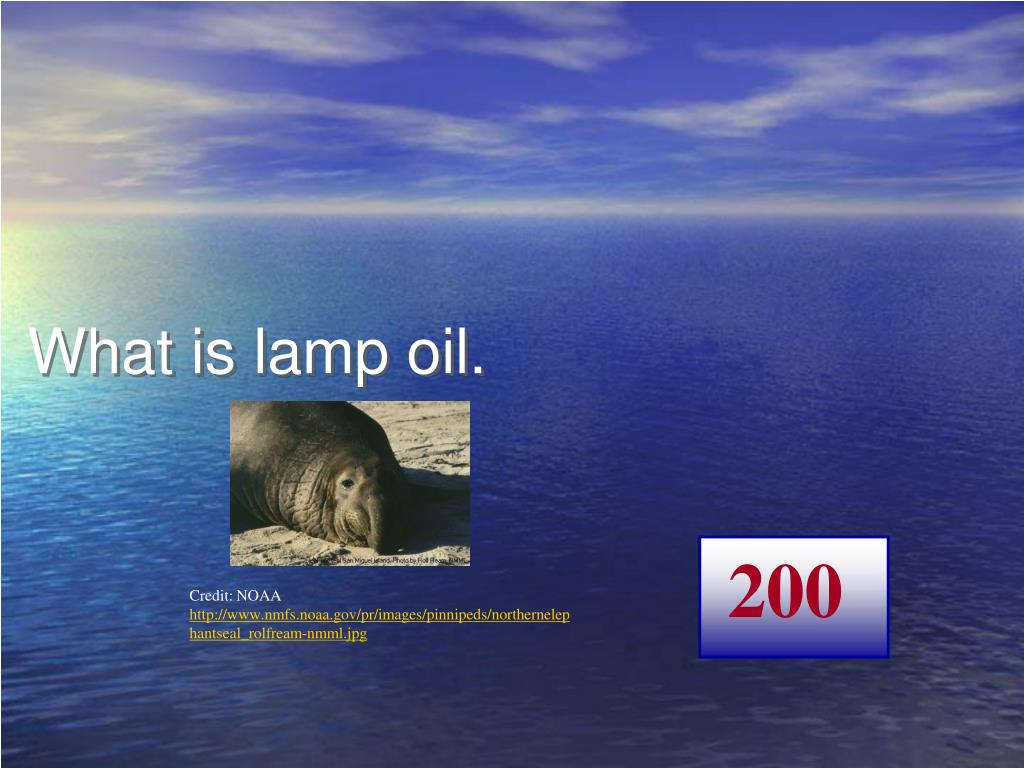 What is lamp oil.