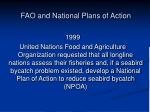 fao and national plans of action