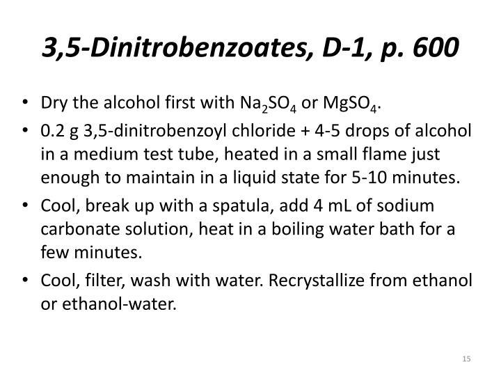 3,5-Dinitrobenzoates