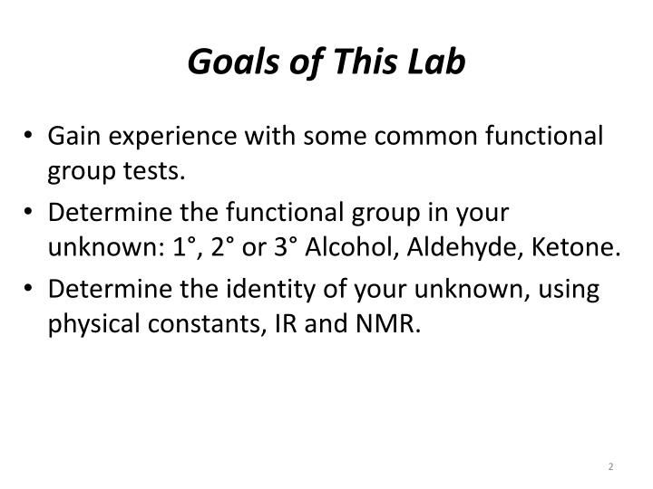 Goals of This Lab