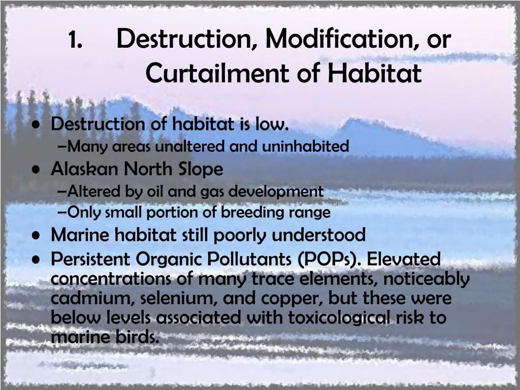 Destruction, Modification, or Curtailment of Habitat