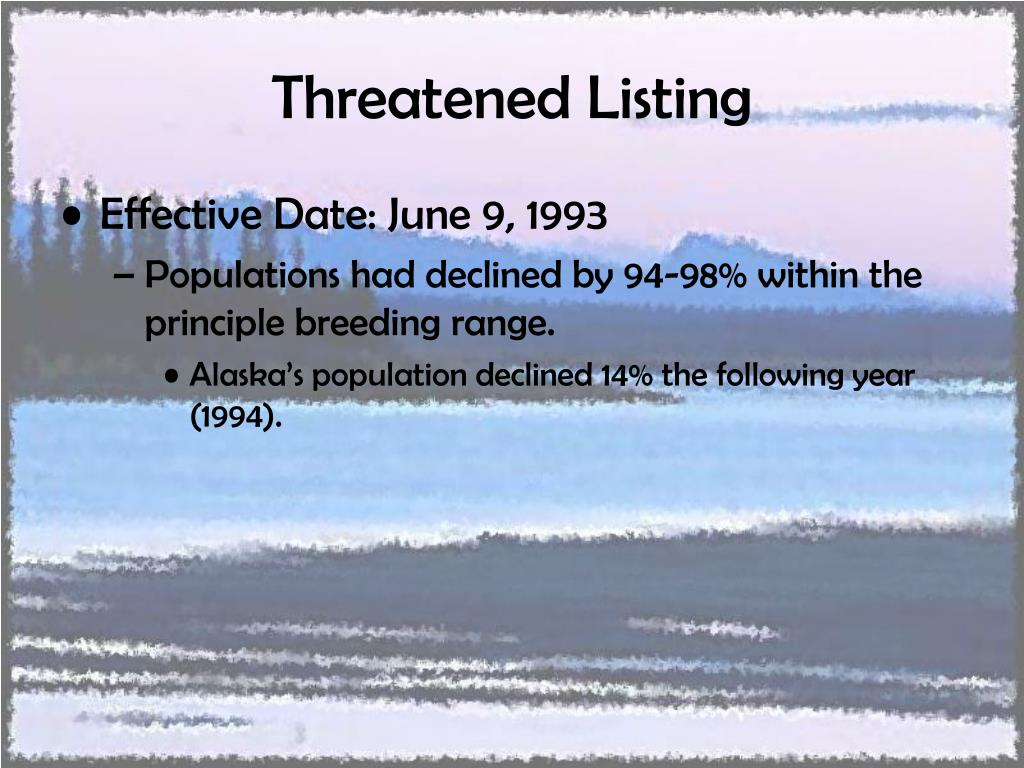 Threatened Listing