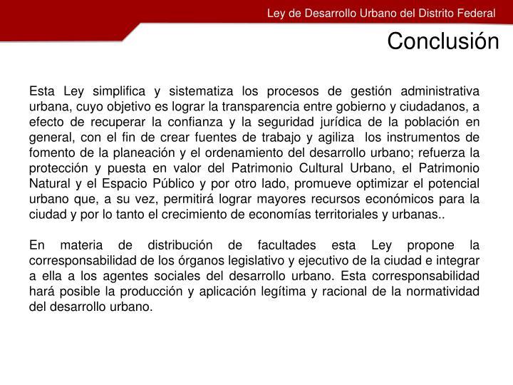 Ley de Desarrollo Urbano del Distrito Federal