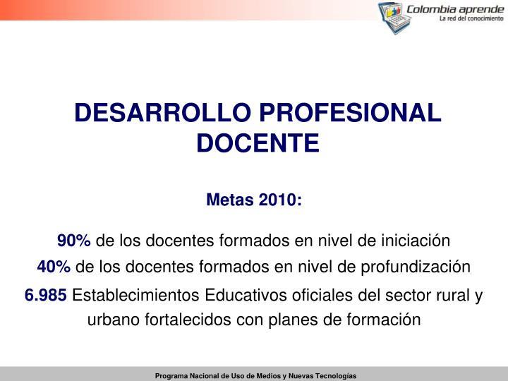 DESARROLLO PROFESIONAL DOCENTE