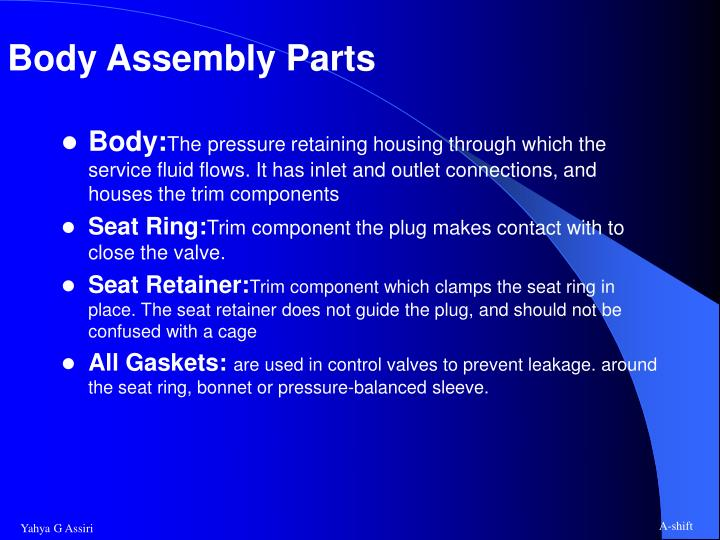 Body Assembly Parts