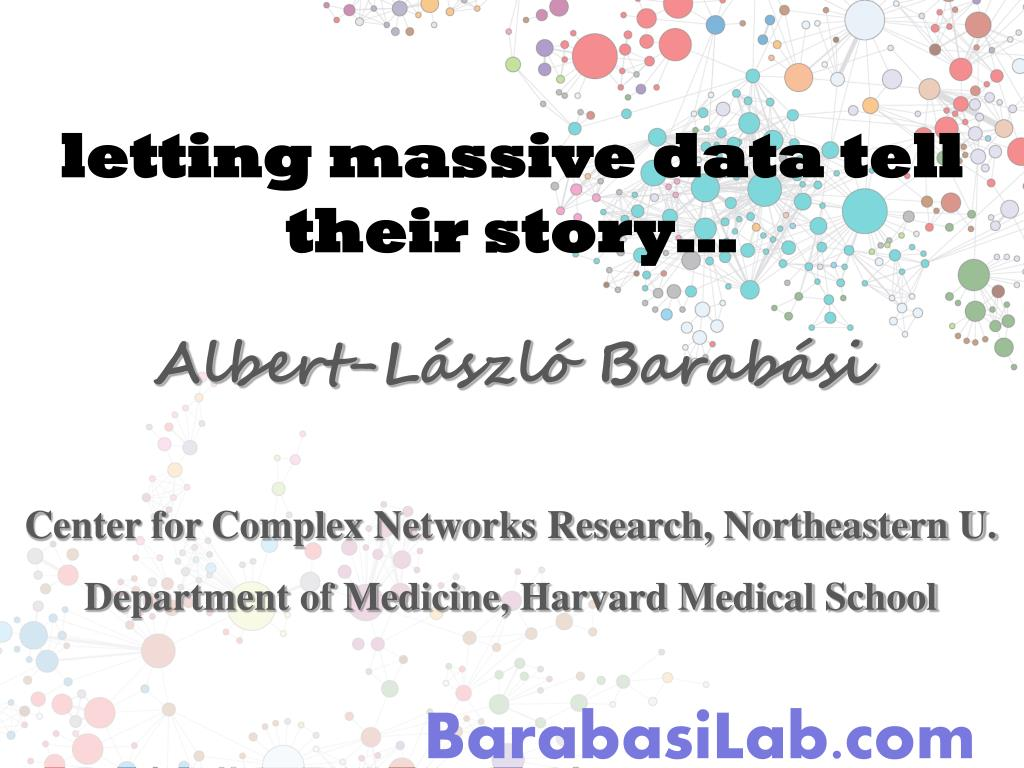 letting massive data tell their story…