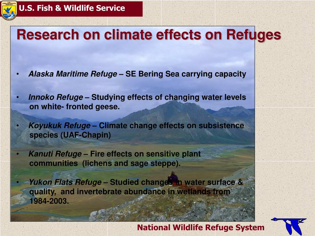 Research on climate effects on Refuges