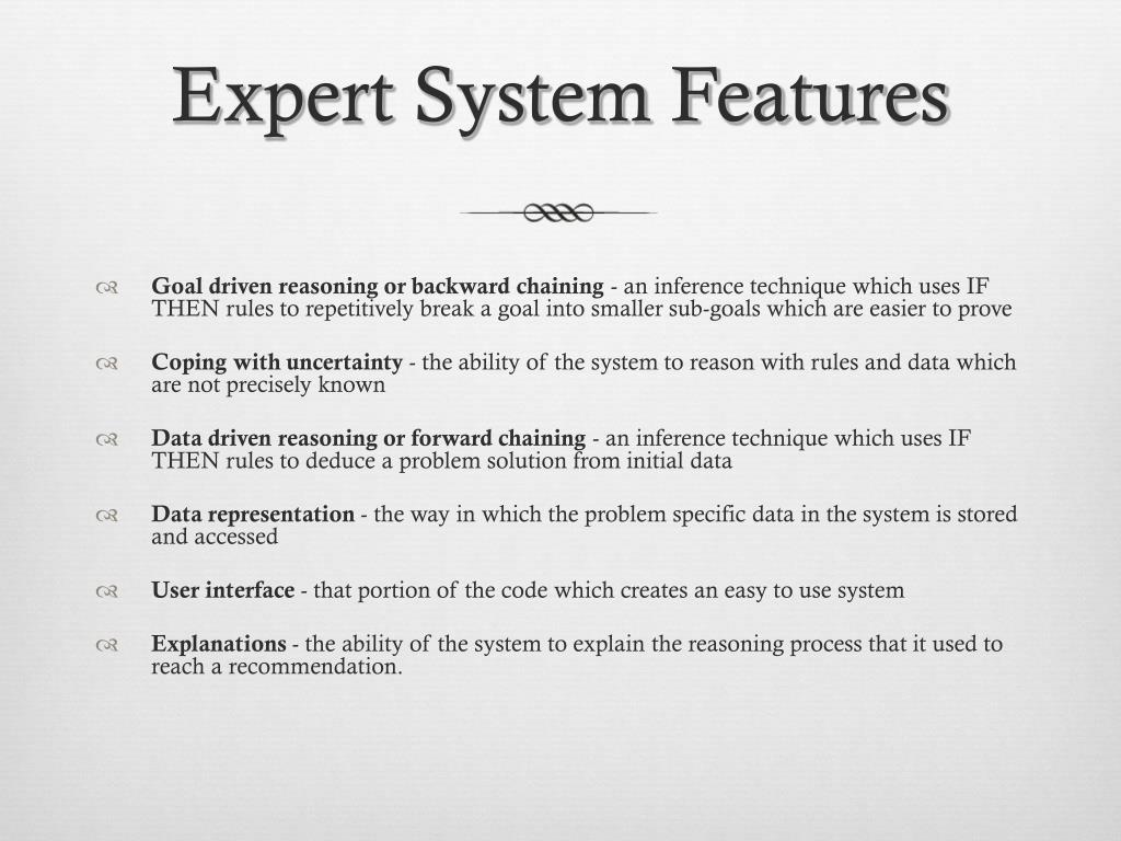 Expert System Features