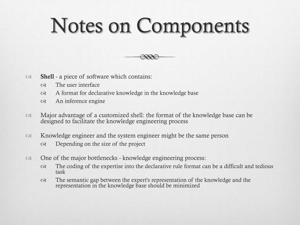Notes on Components