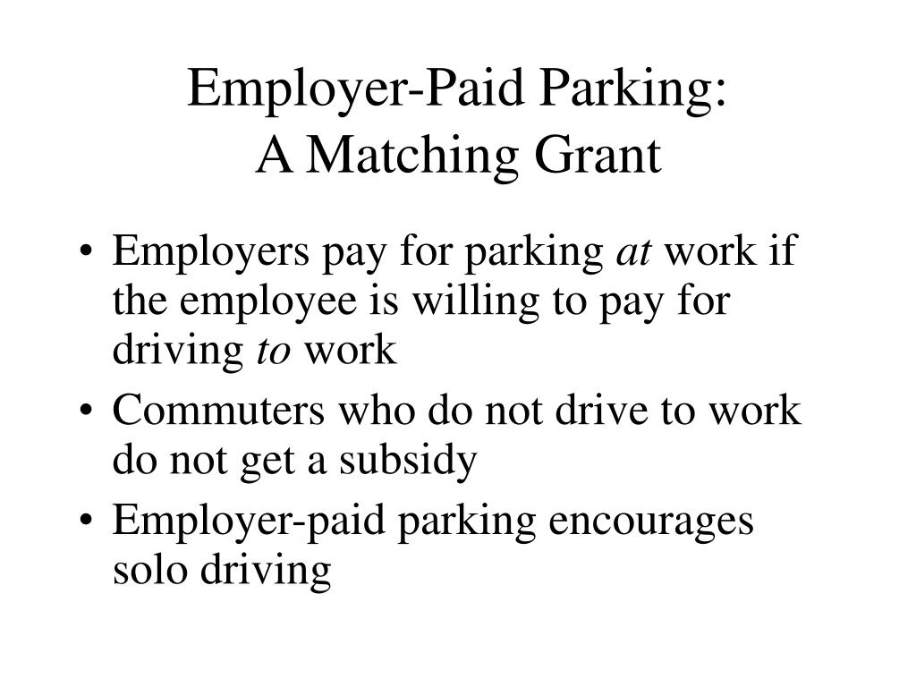 Employer-Paid Parking: