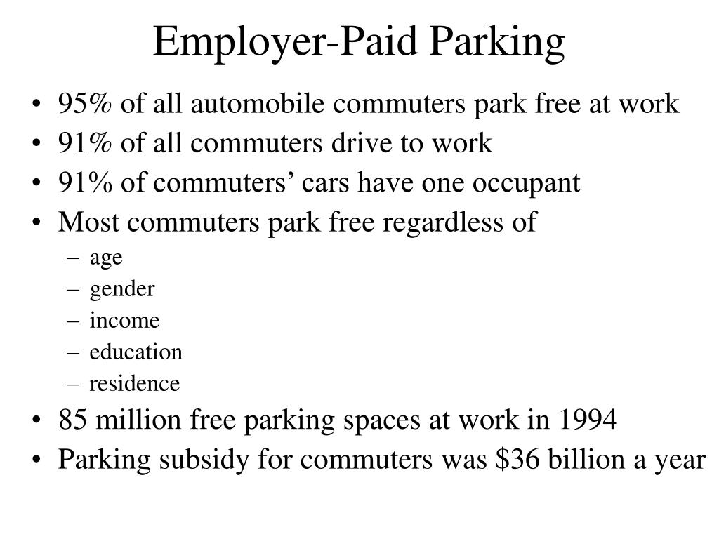 Employer-Paid Parking