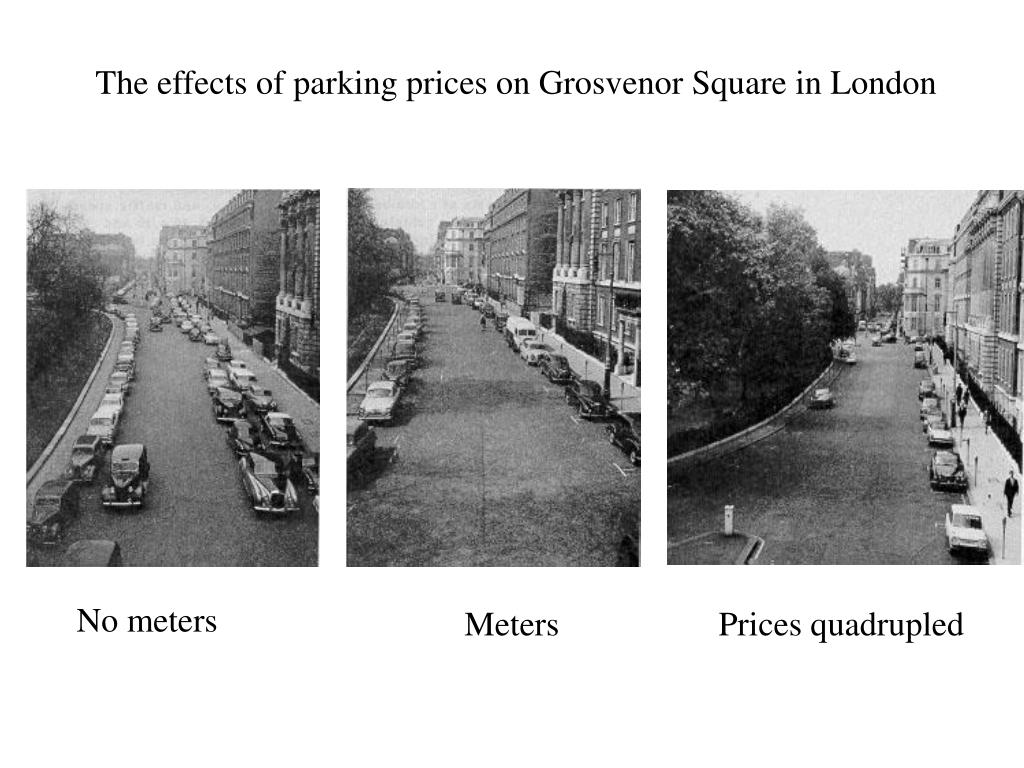 The effects of parking prices on Grosvenor Square in London
