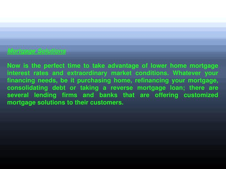 Mortgage Solutions