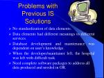 problems with previous is solutions