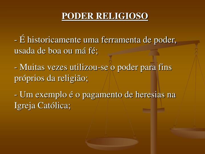 PODER RELIGIOSO