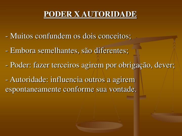 PODER X AUTORIDADE