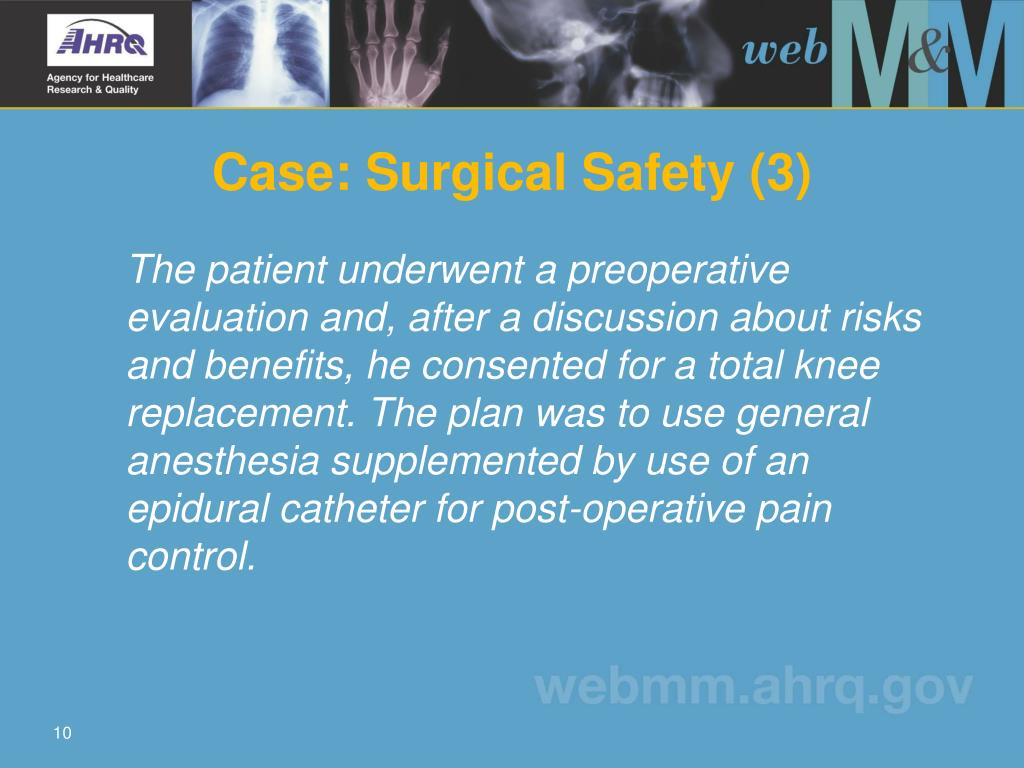 Case: Surgical Safety (3)