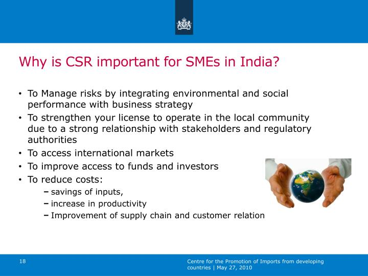 Why is CSR important for SMEs in India?