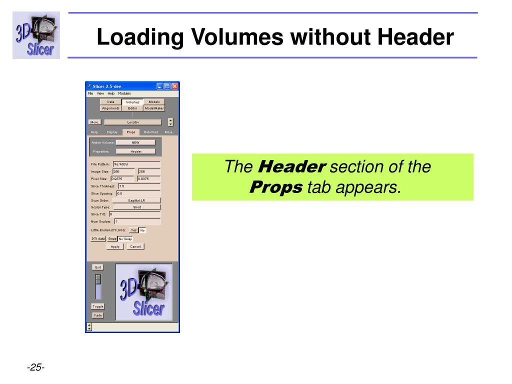 Loading Volumes without Header