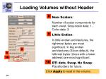 loading volumes without header28