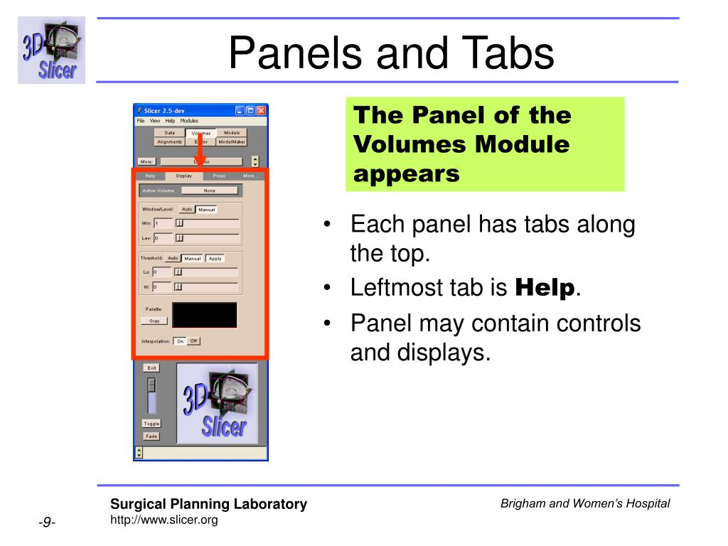 Panels and Tabs