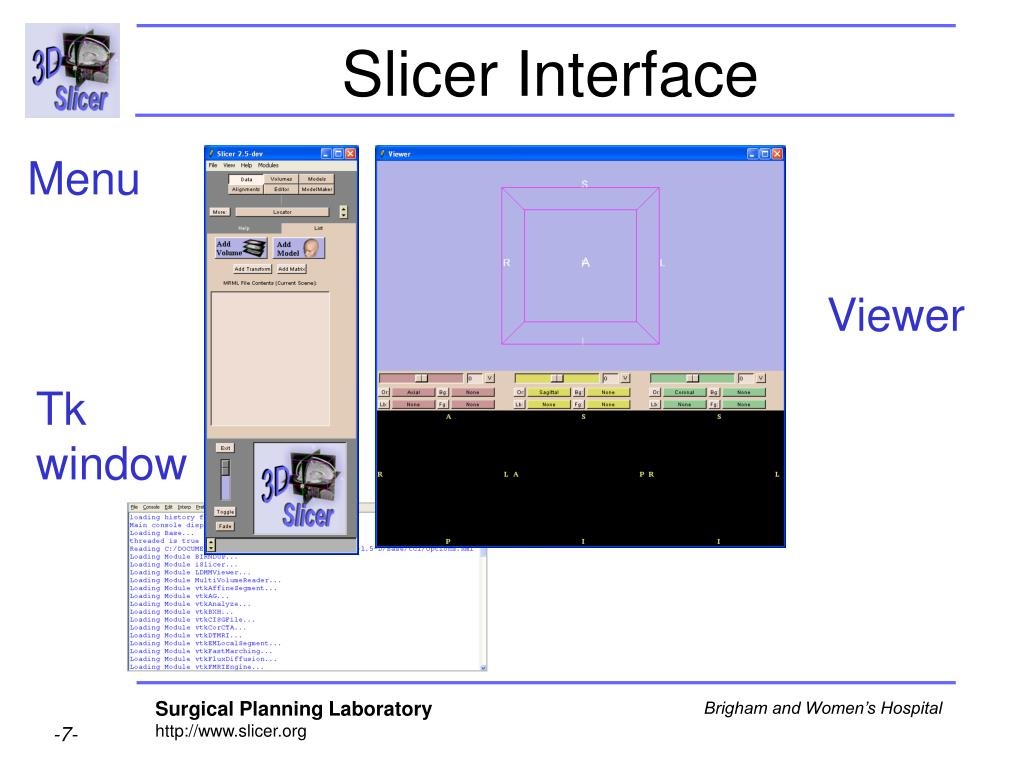 Slicer Interface