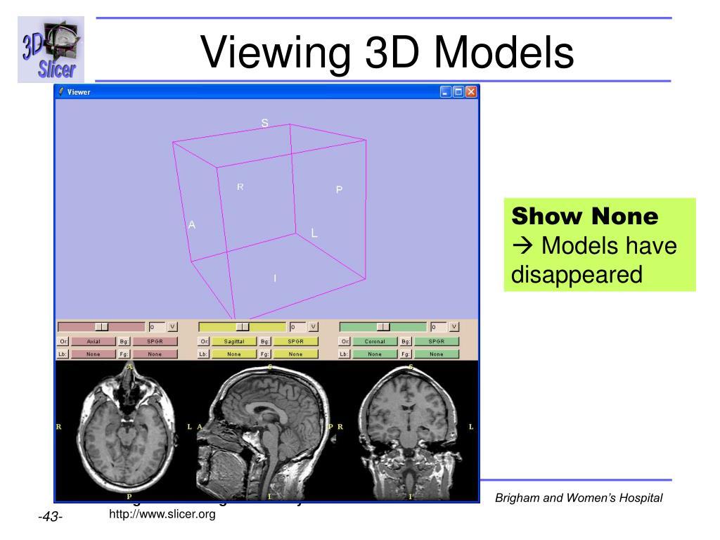 Viewing 3D Models