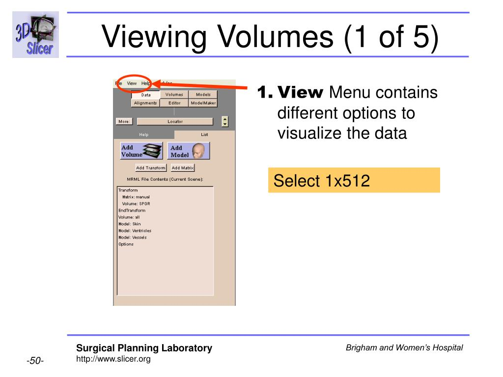 Viewing Volumes (1 of 5)