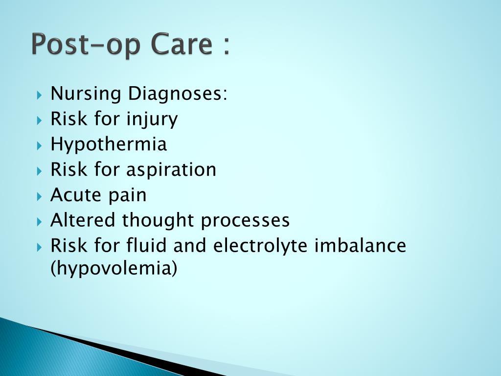Post-op Care :