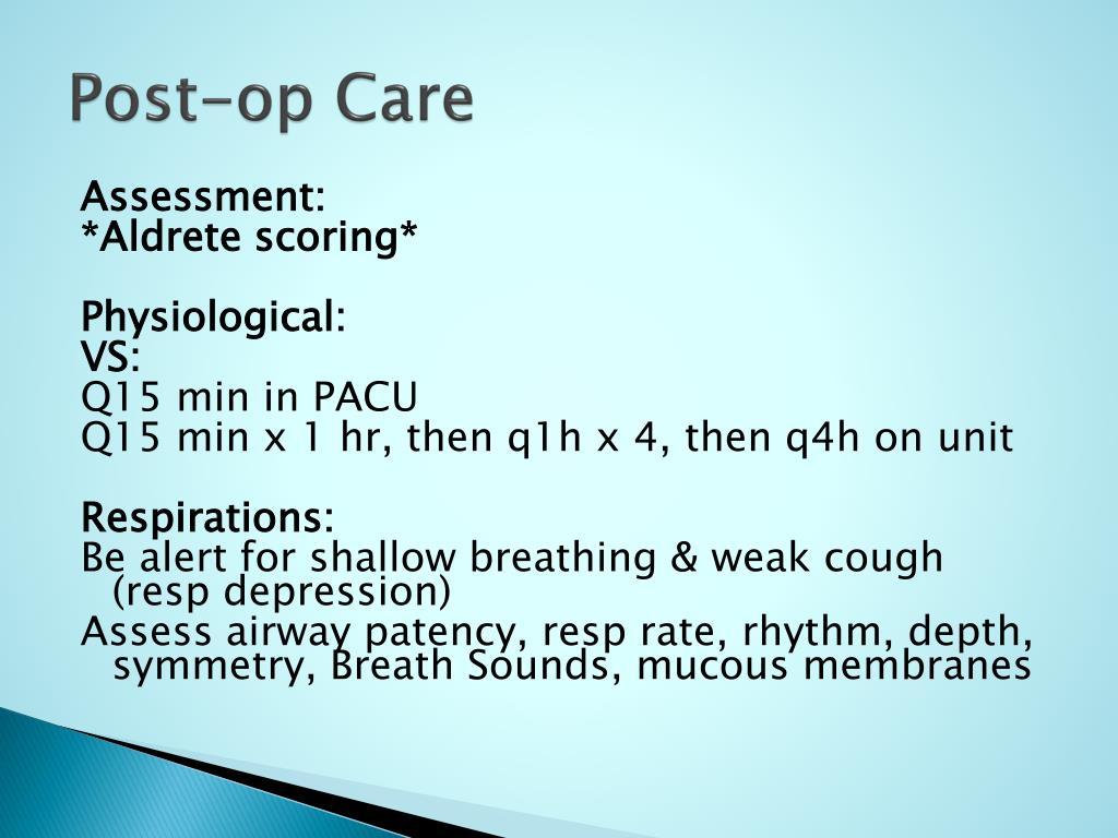 Post-op Care