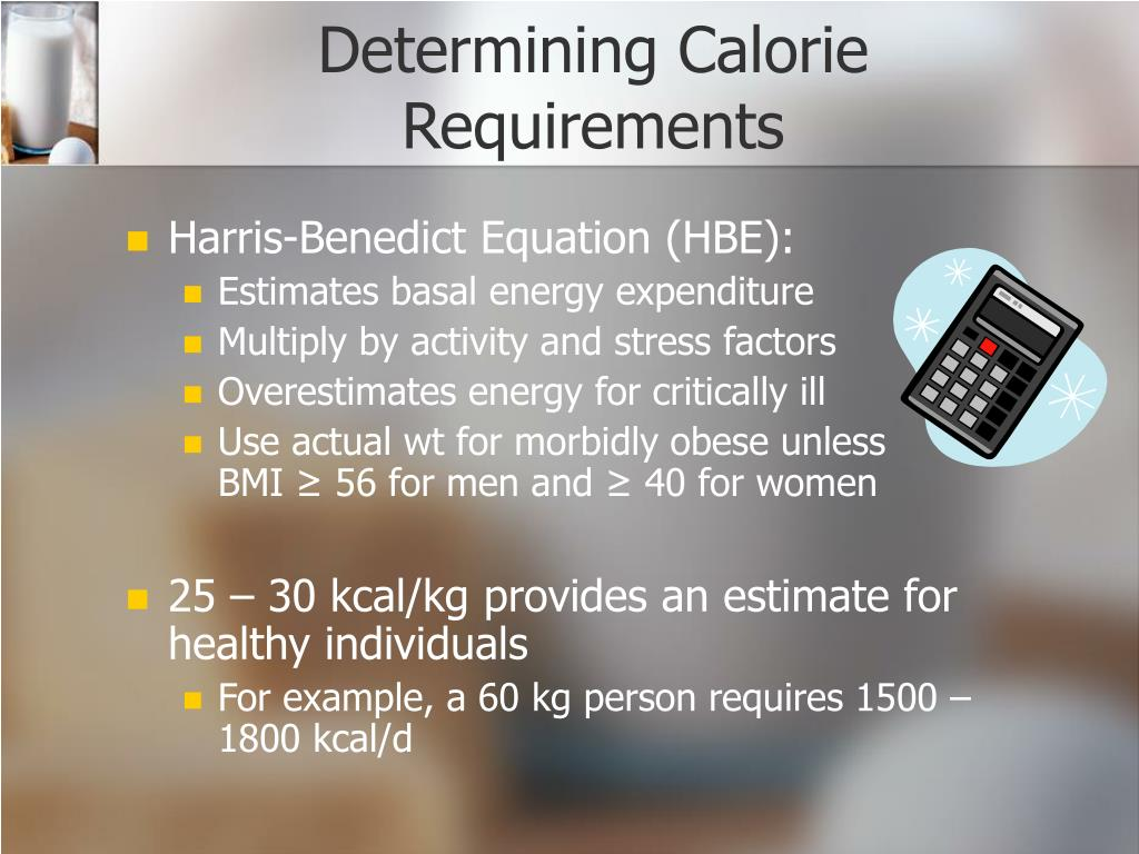 Determining Calorie Requirements