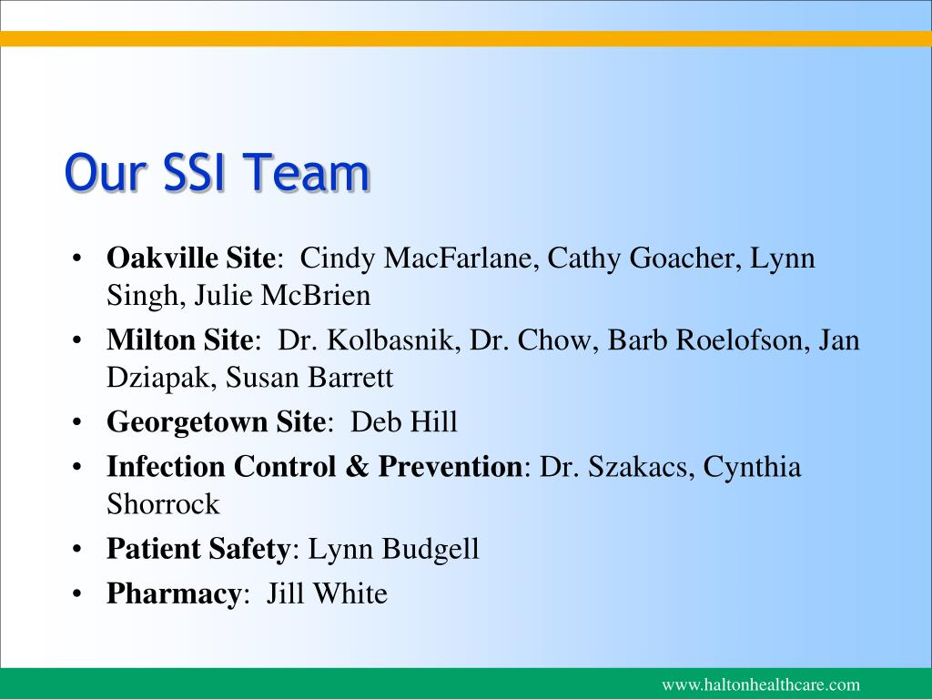 Our SSI Team