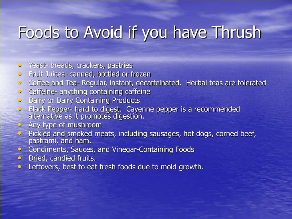 Foods to Avoid if you have Thrush