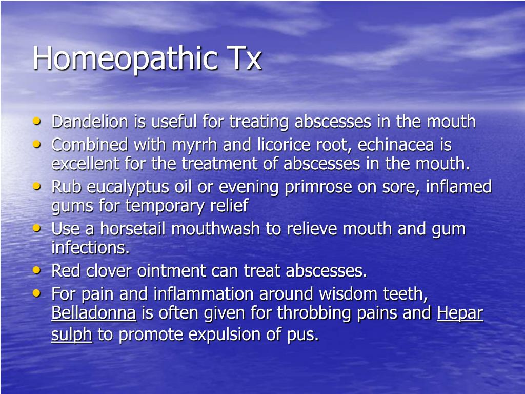 Homeopathic Tx