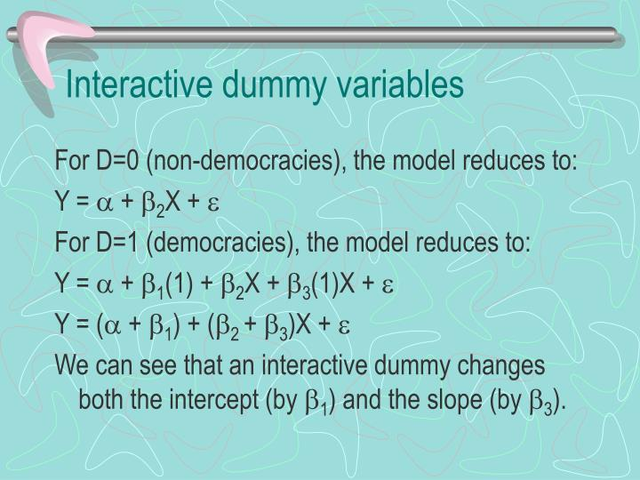 Interactive dummy variables