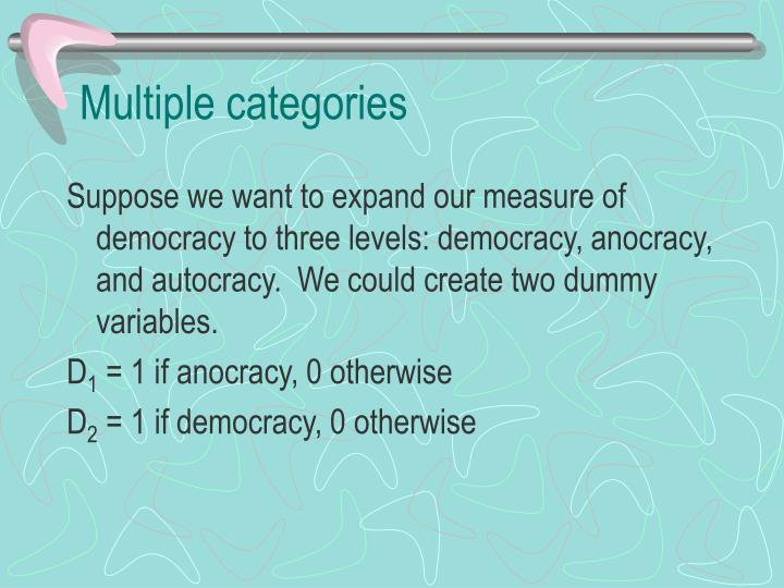 Multiple categories