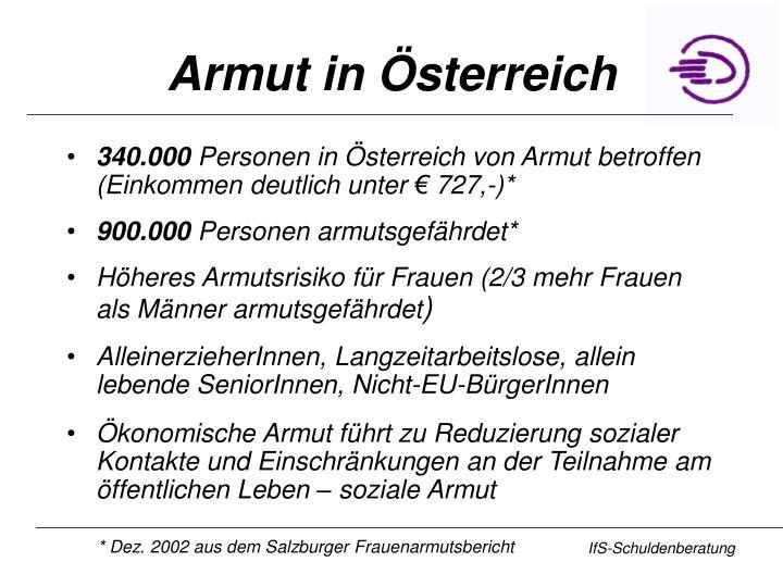 Armut in Österreich