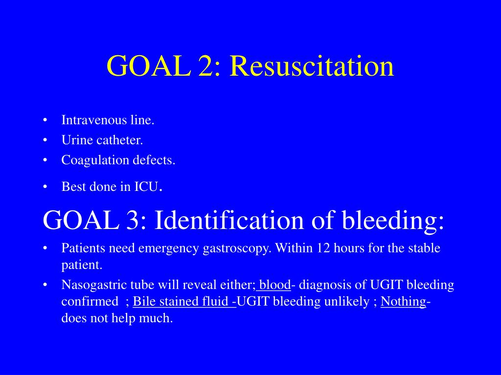 GOAL 2: Resuscitation
