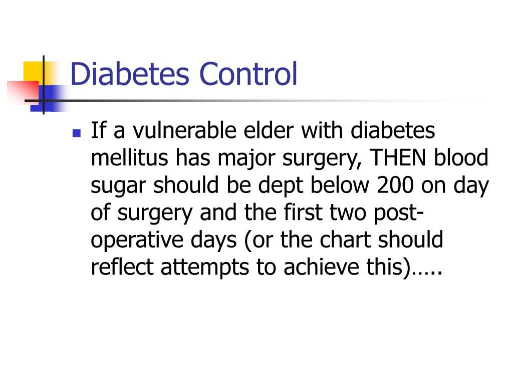 Diabetes Control